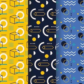 Projeto de memphis de coleção de padrões