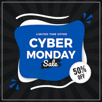 Projeto de modelo de banner de venda cyber segunda-feira
