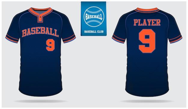 Projeto de modelo de camisa de beisebol.