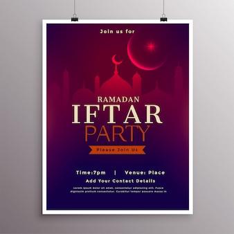 Projeto de modelo de celebração de festa iftar ramadan
