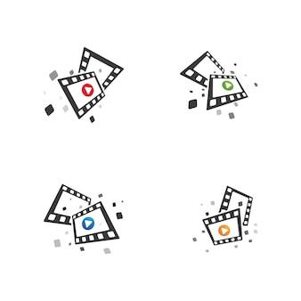 Projeto de modelo de ilustração vetorial de ícone de filme abstrato