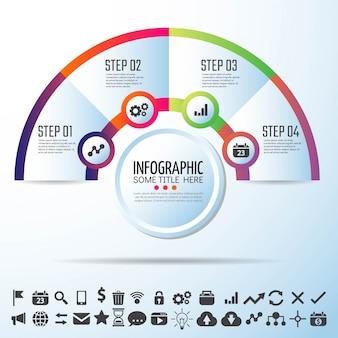 Projeto de modelo de infografia do círculo