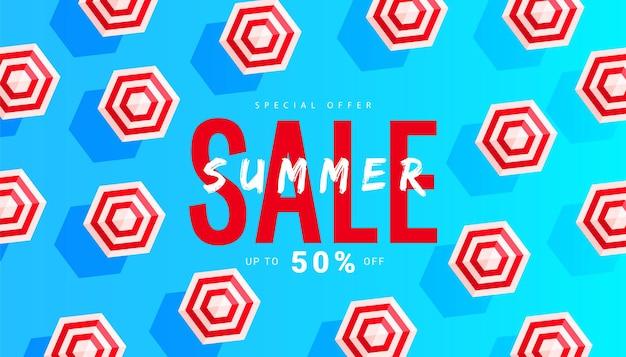 Projeto de modelo de layout de banner de venda de verão