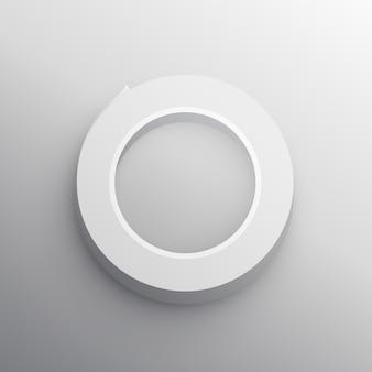 Projeto de modelo de maquete 3d fita adesiva