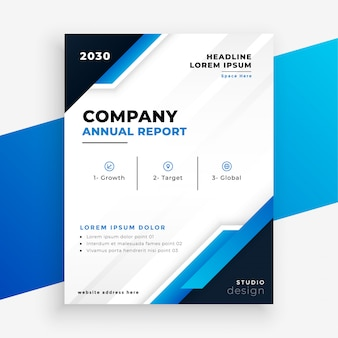 Projeto de modelo de negócios de folheto de relatório anual