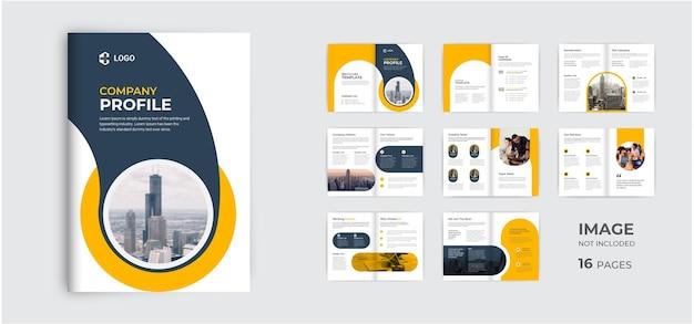 Projeto de modelo de perfil de empresa profissional layout de folheto de várias páginas mínimo moderno