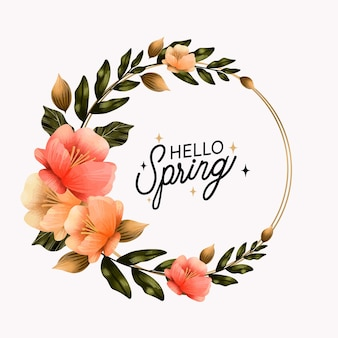 Projeto de moldura floral aquarela primavera