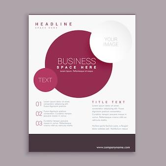 Projeto de negócio folheto corporativo com círculos marrons