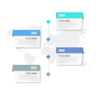 Projeto de negócios do elemento infográfico timeline