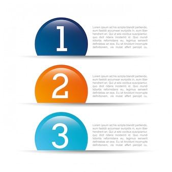 Projeto de números sobre ilustração vetorial de fundo branco