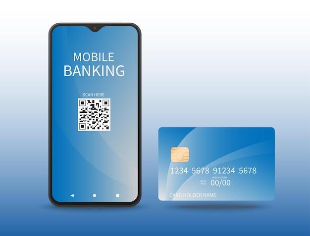 Projeto de objeto exibindo a aparência de banco móvel e cartões eletrônicos para negócios e finanças