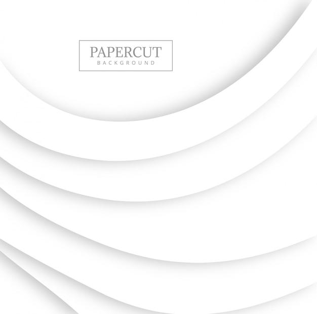 Projeto de onda cinza papercut abstrata