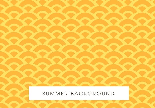 Projeto de padrão amarelo sem costura de verão