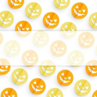 Projeto de padrão de abóbora de halloween