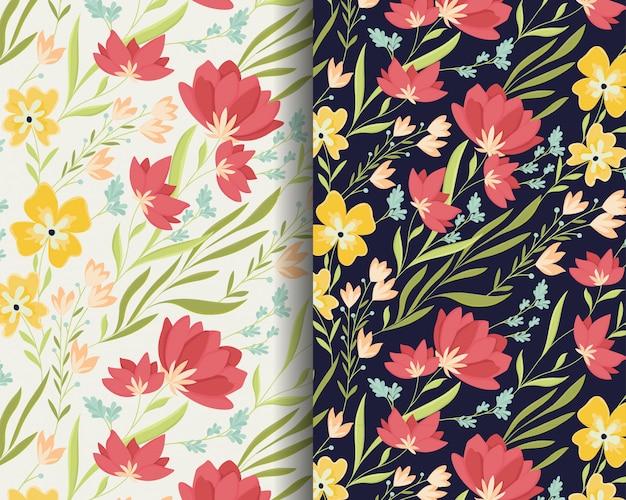Projeto de padrão de flores de lírio bonito
