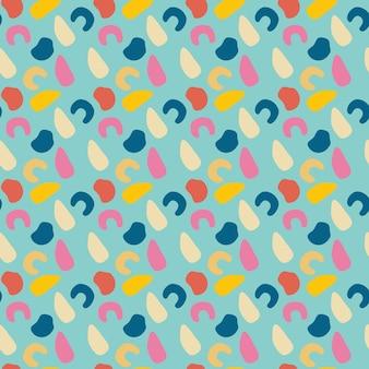 Projeto de padrão de rabisco colorido abstrato divertido vetor de repetição perfeita de linhas onduladas