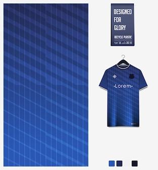 Projeto de padrão de tecido esporte para camisa de futebol. fundo abstrato. Vetor Premium