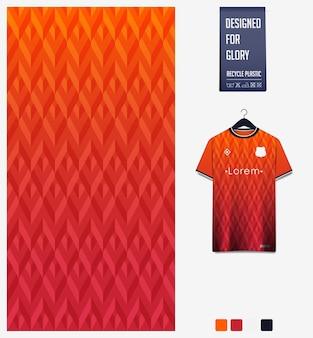 Projeto de padrão de tecido. padrão geométrico para camisa de futebol, kit de futebol ou uniforme esportivo.