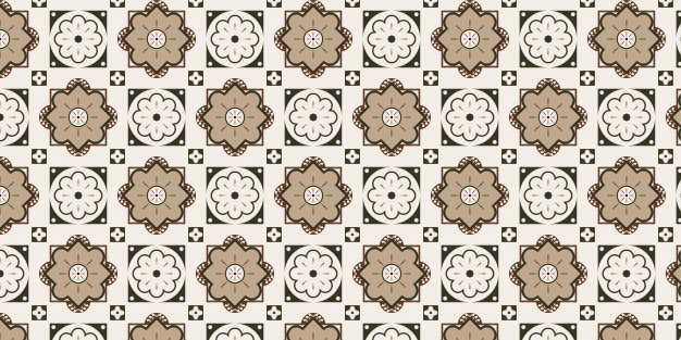 Projeto de padrão de telha decorativa sem emenda