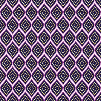 Projeto de padrão geométrico sem costura tribal asteca sem costura