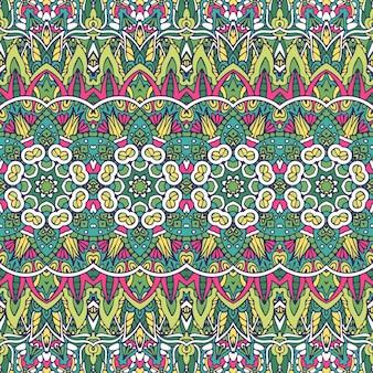 Projeto de padrão ornamental de estilo verde verão.