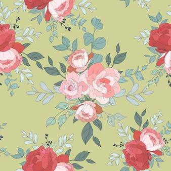 Projeto de padrão sem emenda com lindos florais