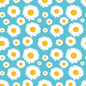 Projeto de padrão sem emenda de flores de camomila