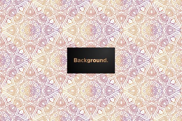 Projeto de padrão sem emenda gradiente de mandala