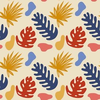 Projeto de padrão uniforme com fundo de motivos coloridos