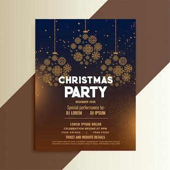 Projeto de panfleto de festival de natal
