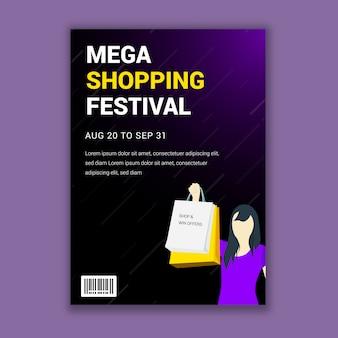 Projeto de panfleto festival mega compras