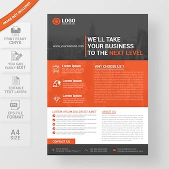 Projeto de panfleto profissional de negócios