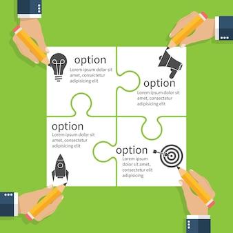 Projeto de planejamento de equipe de negócios.