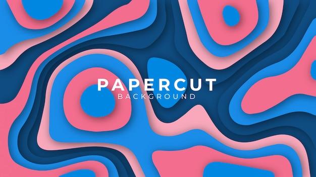 Projeto de plano de fundo colorido abstrato elegante papel cortado
