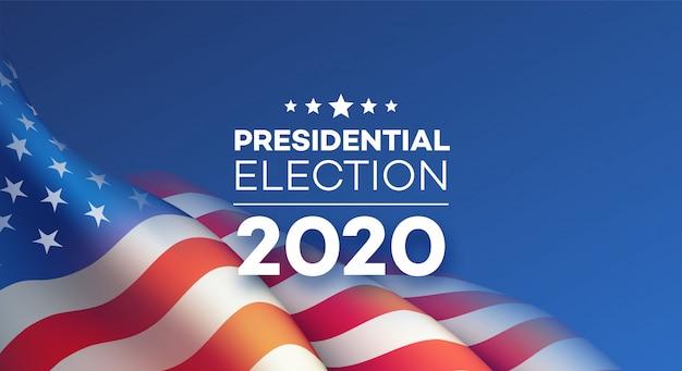 Projeto de plano de fundo da eleição presidencial americana.