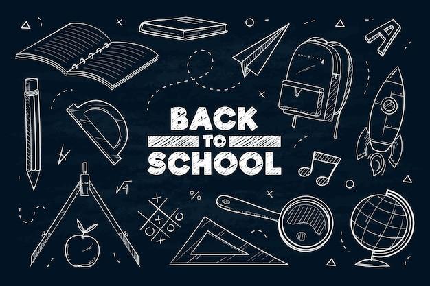 Projeto de plano de fundo da escola de quadro-negro