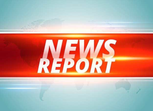 Projeto de plano de fundo de conceito de relatório de notícias