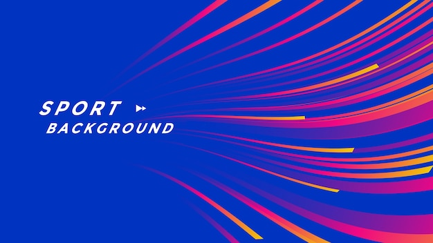 Projeto de plano de fundo de eventos esportivos com linhas de ondas gradientes.