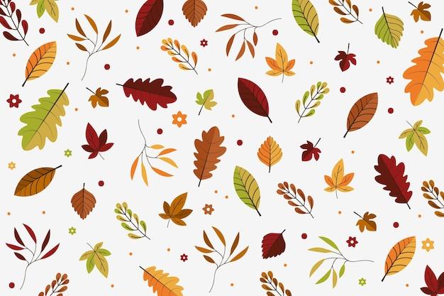 Projeto de plano de fundo de folhas de outono