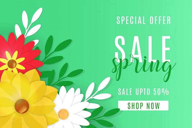Projeto de plano de fundo de venda primavera