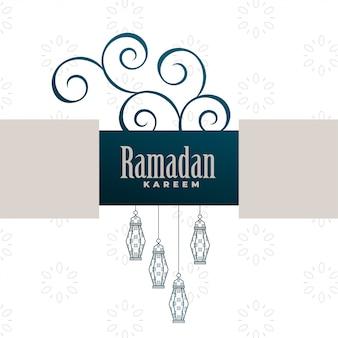 Projeto de plano de fundo decorativo ramadan kareem