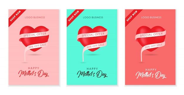 Projeto de plano de fundo dia das mães