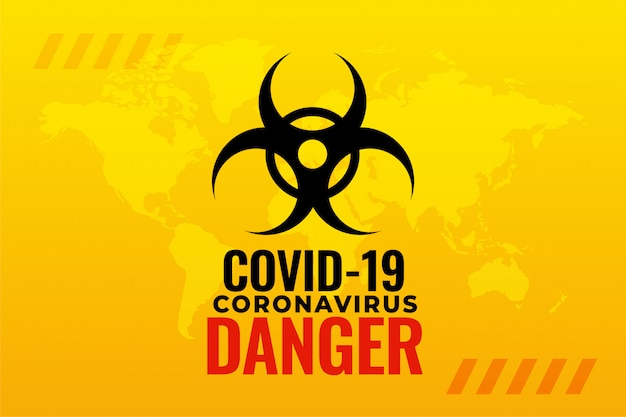 Projeto de plano de fundo do alerta de surto de pandemia de coronavírus covid-19