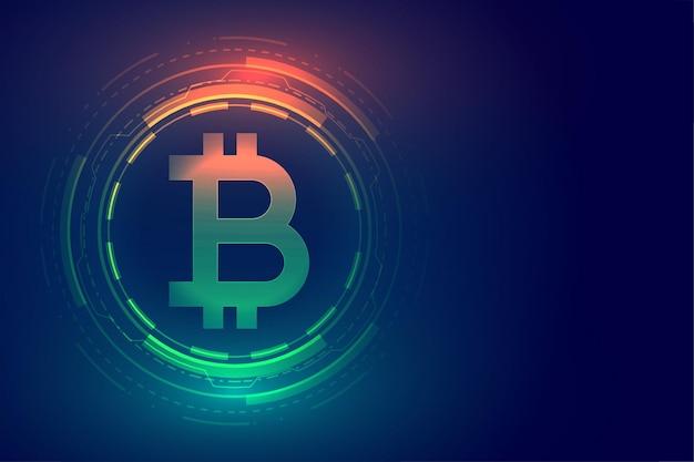 Projeto de plano de fundo do conceito de tecnologia digital bitcoin