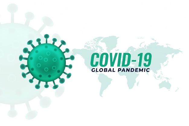 Projeto de plano de fundo do covid19 infecção pandêmica de infecção por coronavírus