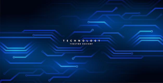 Projeto de plano de fundo do diagrama de linhas de circuito de tecnologia digital