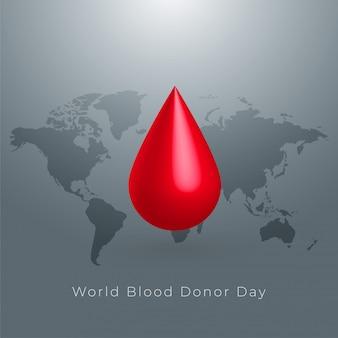 Projeto de plano de fundo do mundo doador de sangue dia conceito