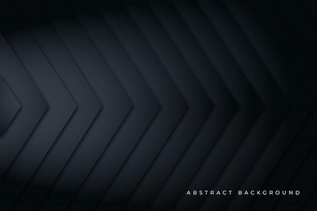 Projeto de plano de fundo horizontal seta preta