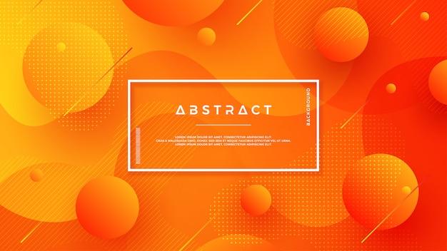 Projeto de plano de fundo texturizado laranja em estilo 3d.