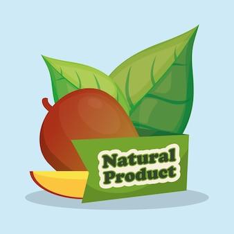 Projeto de produto natural da fatia da manga